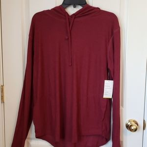 NWT OLD NAVY LS HOODED TSHIRT WITH POCKETS